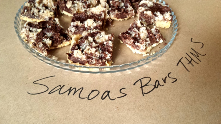 Samoas Recipe for Cookie Bars - Low Carb, Keto, THM